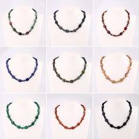 Natural Stone Necklace Beads Choker Statement Pendant Collar Bib Fashion Jewelry