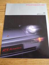 RARE PORSCHE 911 ( 964) RS AMERICA BROCHURE 1993 jm