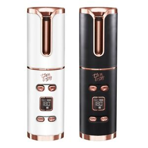 Thin Lizzy UCurl Auto Curler V2 Compact & Cordless White or Black Rose Gold