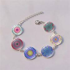 Yoga Jewelry 6 Flower Mandala Bracelet Colorful Chain Glow In The Dark