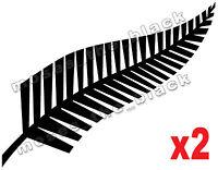 2x New Zealand Fern KIWI Symbol, Car Vinyl Decal Stickers, H.Q.Vinyl,11cmx3.5cm