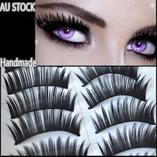 10 Pairs of False Eyelashes Natural Long Thick Handmade Extension Lashes 001