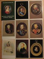 16 Russian POSTCARD Portrait Miniature SET Mini Art Antique Vintage 18 19 Ages