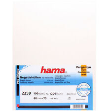 100 x Hama 60mm 6x6 6x7 6x9 120 Format NEGATIVE GLASSINE SHEET Film Sleeves v