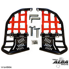 Yamaha YFZ 450R 450X  Nerf Bars  Pro Peg  Alba Racing  Black Red 251 T7 BR