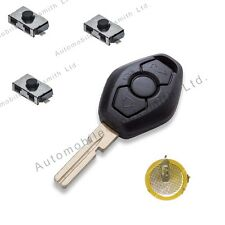 DIY Repair KIT for BMW 3 button remote key HU58 blade 3 5 7 X3 X5 Z4 E38 E39 E46