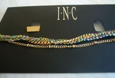 Anklet by I.N.C. Gold and Multi-Color Threads Double Chain Design New in Package