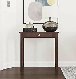 """Rosewood Tall Coffee Console Table with Drawer 28""""x12""""x28"""" in Brown - Brand New"""
