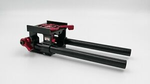"""Zacuto Cage Rod Support Base with 8"""" Rods for GH5 or Sony A7III Mounting Support"""