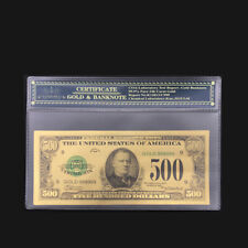 America 24k Gold Banknotes US 500 Dollar Fake Paper Money Credit Coin Notes Gift