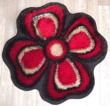 Flower Shape Girls Room Floor Mat Carpet Rug 80 x 80 cm