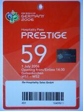 TICKET Hospitality FIFA WM 2006 England - Portugal Match 59 in Gelsenkirchen