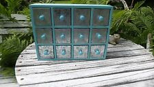 Vintage Look Wooden & Tin Farmhouse Shabby & Cottage Chic Blue Cabinet