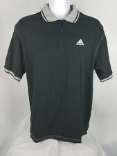 Adidas zip-up Polo black and gray sz XL.