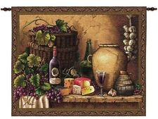 Tuscan Still Life Wine & Cheese Tasting Wall Hanging 2597-WH ~ Made in USA
