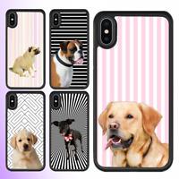 iPhone X 8 8 Plus 7 6 6s SE 5 Case Cute Pug Puppy Dog Bumper Shockproof Cover