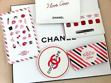 CHANEL VIP Gift COCO Cafe Sticker Coaster Cup Jacket Lipgloss Sample Collectible