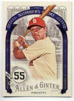 2016 Topps Allen & Ginter STEPHEN PISCOTTY Rookie RC NUMBERS INSERT Oakland A's
