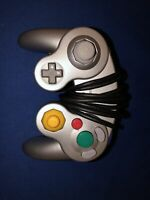 Genuine OEM Nintendo GameCube Controller Platinum Silver DOL-003 Tested Tight