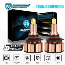 9005 HB3 H10 9145 6-Sides 360° LED Headlight Kits HI/LO Beam Bulbs 6000K White