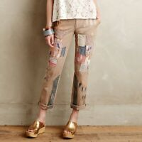 Anthropologie Pilcro & The Letterpress Hyphen Patched Chino Pants Size 26 EUC