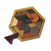 Wood Puzzle Baby Toddler Montessori Tetris Brain Teaser Game Kids Wooden Toy Joy