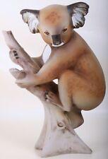 Original Royal Dux Koala 28 cm Porzellanfigur signiert Bisquitporzellan