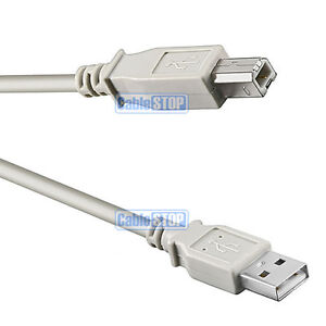 3m USB PC COMPUTER PRINTER CABLE A to B PLUG LEAD for EPSON LEXMARK CANON HP