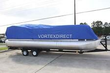 NEW VORTEX COMBO PACK BLUE 26' ULTRA PONTOON/DECK BOAT COVER+DUAL SUPPORT SYSTEM