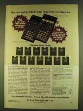 1980 Texas Instruments TI 58C & 59 Calculators Ad