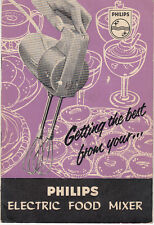 Philips Electric Food Mixer Instruction & Recipe booklet