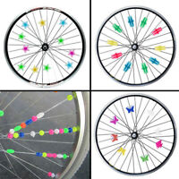 Bicycle Accessories Bike Wheel Spoke Bead Wheel Clip Decoration Plastic Colored