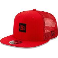 New Era San Francisco 49ers Red Shanahan Trucker 9FIFTY Adjustable Hat Snapback