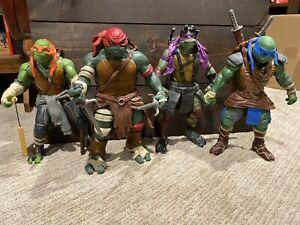 """2014 Teenage Mutant Ninja Turtles 12"""" Action Figure Lot - Mikey/Donny/Leo/Raph"""