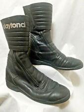 Daytona Frey Leather Motorcycle Boots Zip Up Mens Size 42.5 (9.5US) VGC