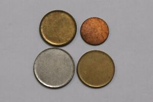 ERROR COINS/BLANK DISC LOT OF 4 COINS B33 KKK44