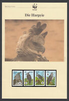 Harpy Eagle Bird Birds FOUR Postcards FOUR FDC Covers WWF World Fund Guyana