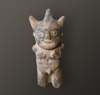 ANCIENNE STATUETTE / ANCIENT STATUE CUCHIMILCO TERRACOTTA, CHANCAY (1100-1300)