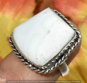 "Blue Opal Gemstone Handmade Ring 925 Silver Plated Us Size 6.5"" U372-B136"
