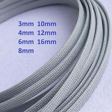 Silver gray 3mm-16mm Flame Retardant Expandable Braided Cable Sleeving/Sheathing