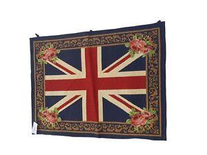 812 - Beautiful Handmade Fine Wool Union Jack Wall Hanging Tapestry.