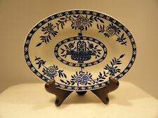 Delph James M. Shaw Antique Blue and White Oval Dish