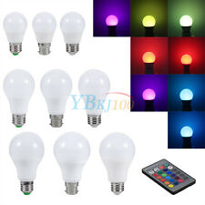 Durable 3W/5W/10W E27/B22/E26 RGB LED Light 16Color Change Bulb+Wireless Remote
