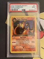 2000 Pokemon Team Rocket 21/82 Non-Holo Dark Charizard PSA 9