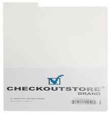 """50 CheckOutStore White Plastic Record Dividers 33 RPM for 12"""" Vinyl 33 RPM"""