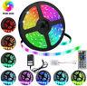 5M 10M LED Strip light RGB 5050 SMD 44 Key Remote 12V US Power Supply Full Kit
