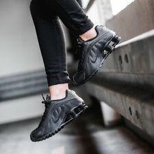 Nike Shox R4 Hombre Zapatos Zapatillas Lifestyle Blanco o Negro TL