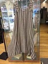 """linen pinafore dress Lagenlook By """" MADE IN ITALY RRP £69 Fits 14-18 Bust 48"""""""