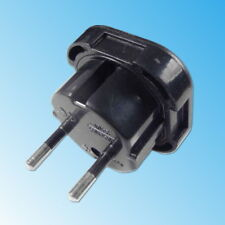 Travel Adapter Plug UK to EU Europe 3 to 2 pin Socket Male Female England Black
