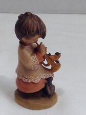 "Anri Juan Ferrandiz Trumpeter 3"" (651-349) Girl with Trumpet and cat"
